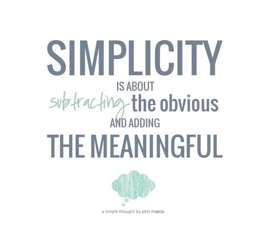 Keep it Simple, Stupid, Part One